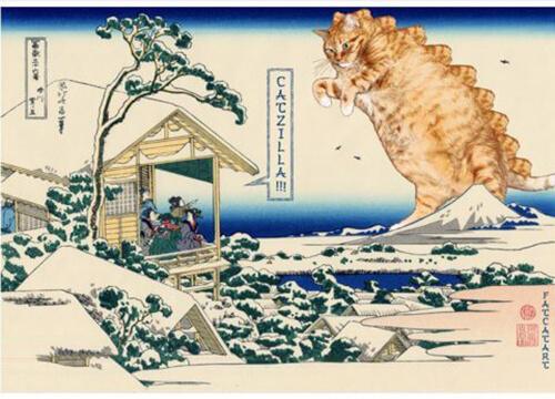 Gli artisti che trasformano le opere d'arte in opere feline