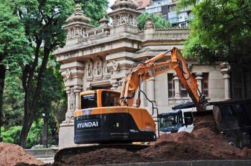 lavori di ristrutturazione nello zoo di Buenos Aires