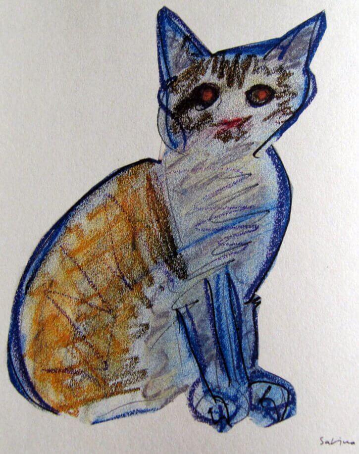 un gatto disegnato da Joaquín Sabina
