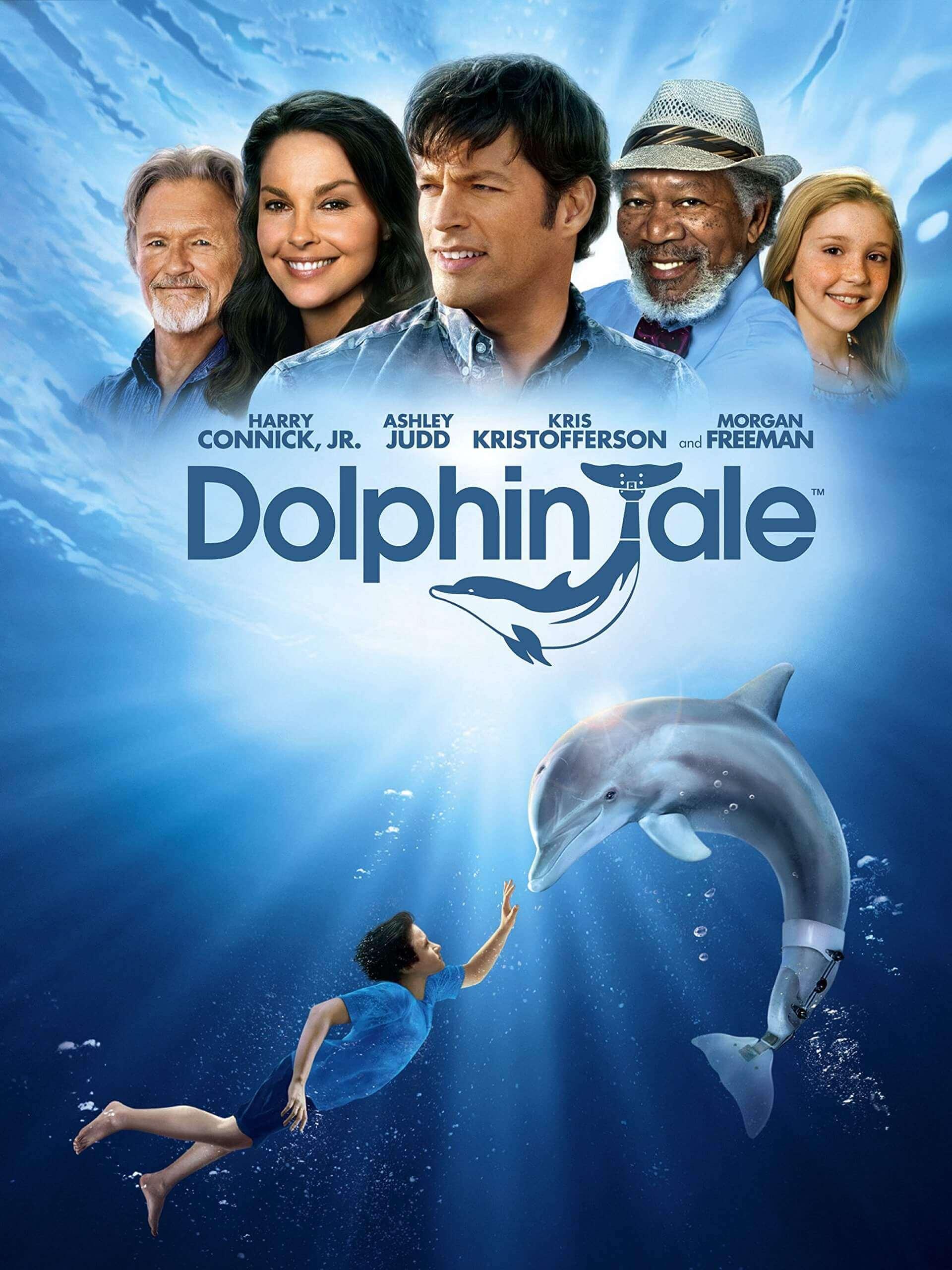 la locandina del film dedicato al delfino winter