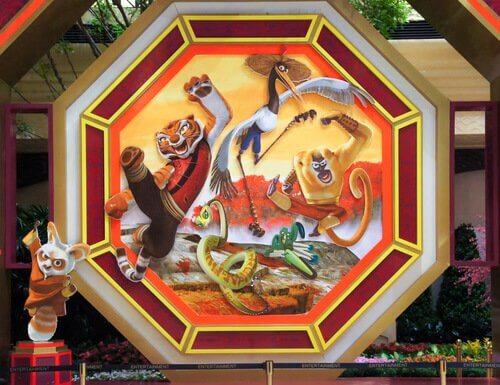 alcuni disegni rapprestano animali di Kung Fu Panda