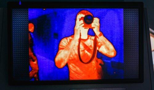 un'immagine catturata a infrarossi
