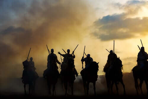 Cavalli berberi in guerra