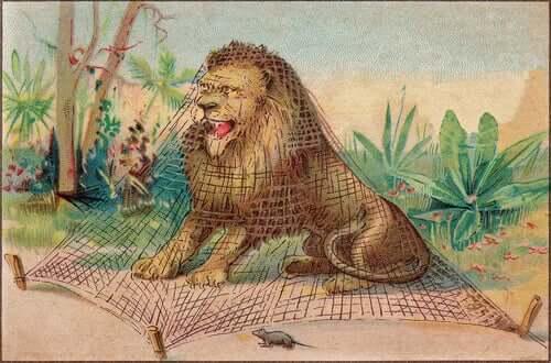 Favola il topo e il leone