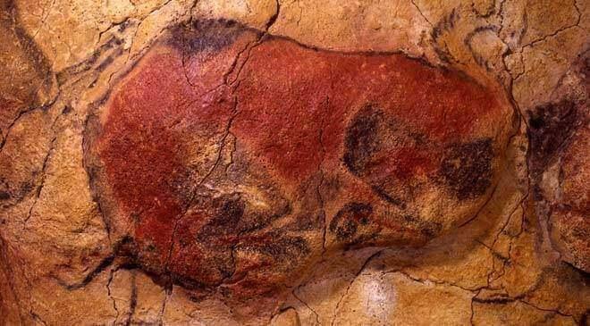 Bisonte rannicchiato della grotta di Altamira