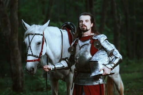 Cavaliere con il cavallo bianco