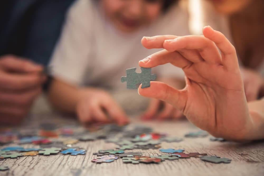 puzzle con animali per bambini