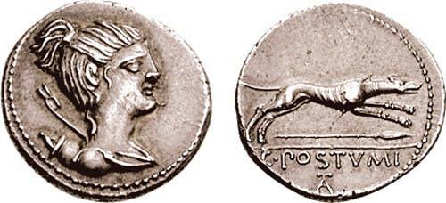 non è raro trovare dei cani raffigurati sulle facce di antiche monete