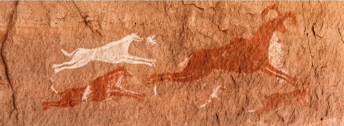 Cani raffigurati nelle pitture rupestri.