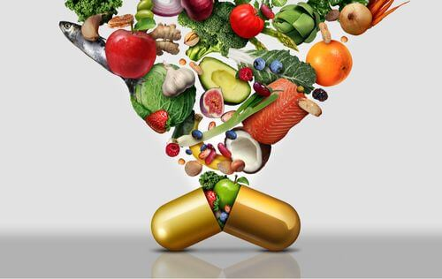 Il cibo offre le vitamine essenziali per i cani.