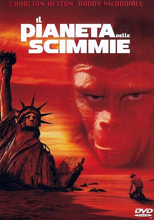 Locandina del film il pianeta delle scimmie.