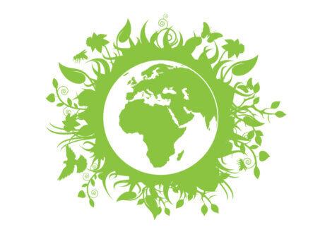 Mondo dipinto di verde.